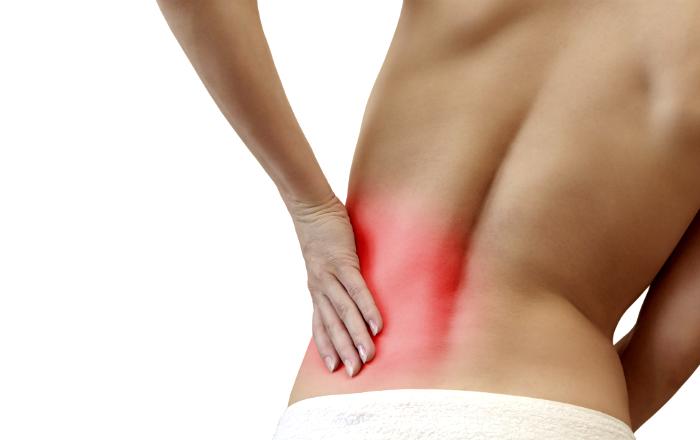 gravid ont i ryggen