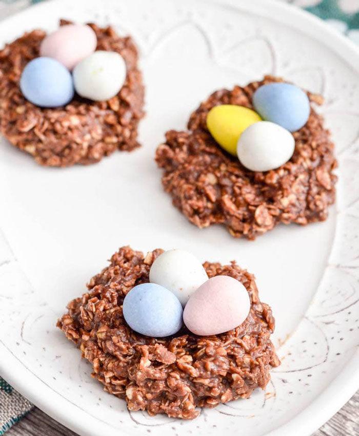 Jordnöt- och chokladnäste