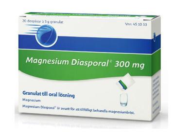 brist på magnesium symtom