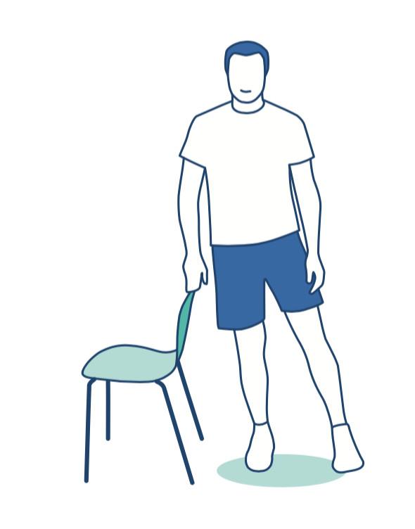 Hip-strengthening exercise against osteoarthritis.