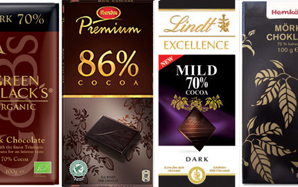 Mörk choklad socker