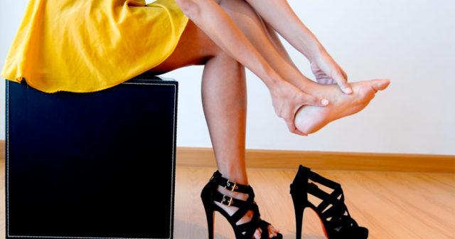 ont i fötterna skor