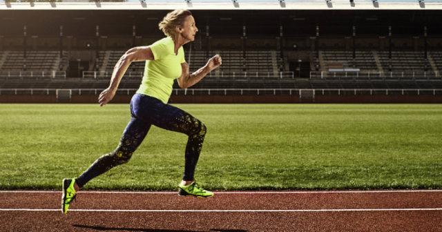 hur snabbt springer en människa
