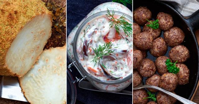 vegetarisk julskinka rotselleri