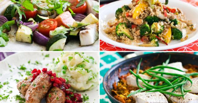nyttiga måltider för en vecka