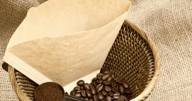 Så kan du använda kaffefilter.