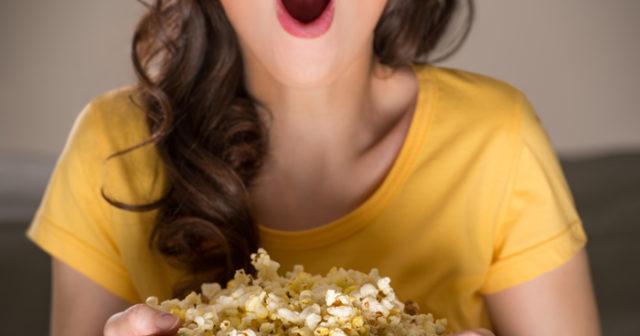 popcorn bra för magen