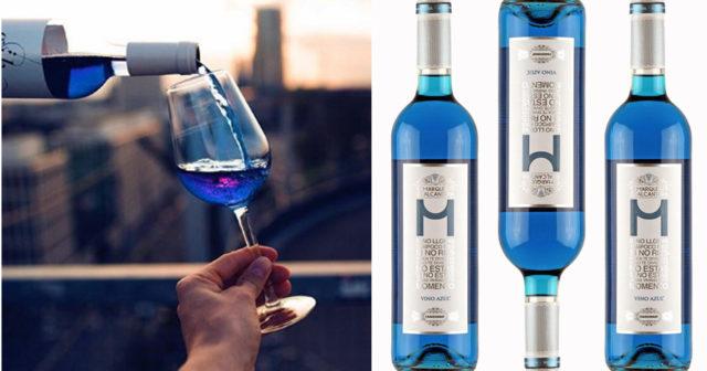 Nu kan du köpa det blå vinet i Sverige