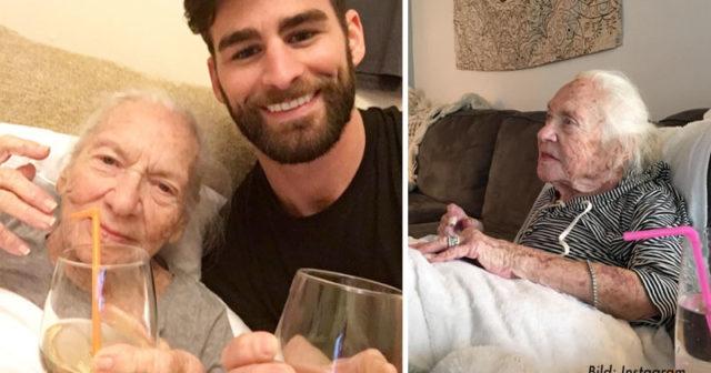 Chris, 31, flyttade ihop med sin döende 89-åriga granne