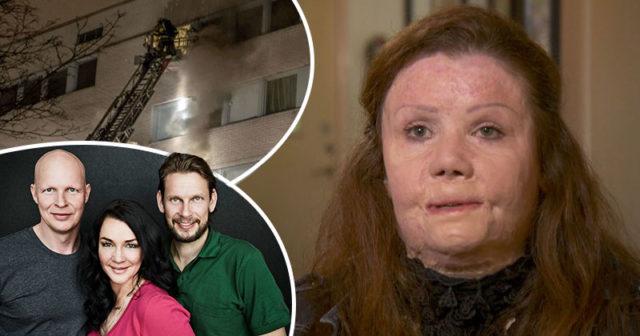 Yvonnes ex tände eld på henne och sonen