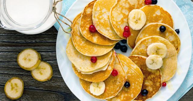 bananpannkaka recept med mjöl