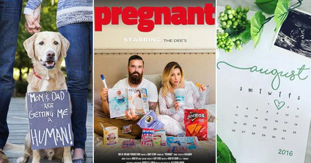 12 roliga och fina sätt att berätta om graviditeten