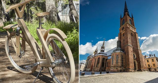 Han guidar turister genom ett hållbart Stockholm – på handgjorda träcyklar