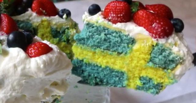 baka en tårta