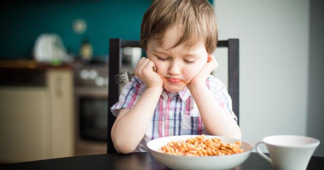 Kräset barn kan lida av en ätstörning