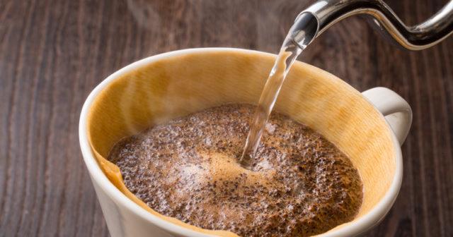 kaffesump i rabatten