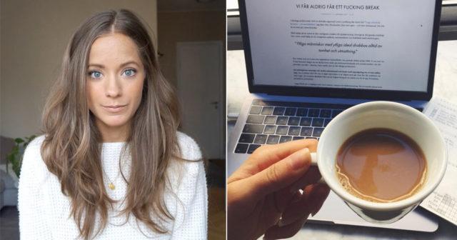 Isabel Boltenstern: Vi får aldrig ett fucking break