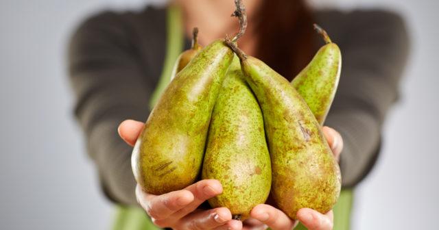 päron lös i magen