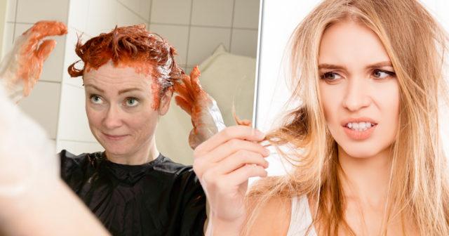 färga håret hemma själv