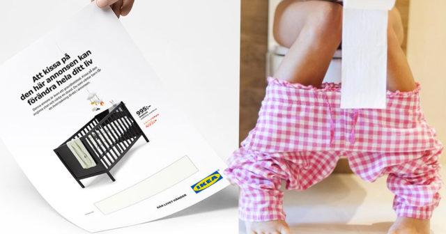 Därför vill IKEA att du kissar på deras senaste annons