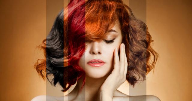 kopparfärgat hår
