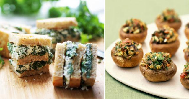 enkla vegetariska snittar
