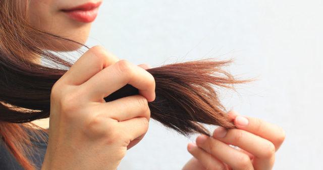 torrt sprött hår
