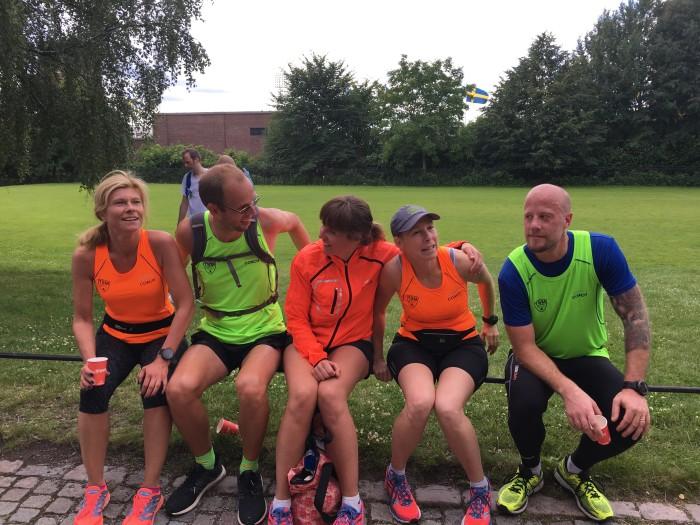Några av dagens ledare. Jag, Henke, Tina, Ulrica och Robban.
