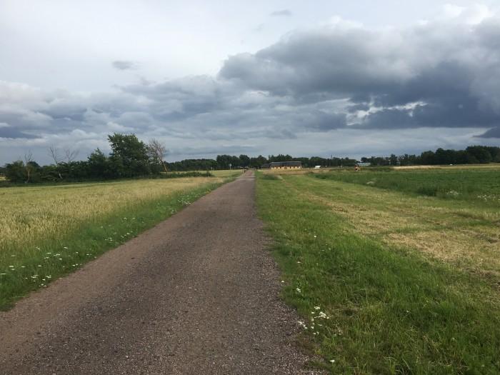 Schysst känsla att springa 3 km på den här vägen och sen. Voilà. En löparbana.