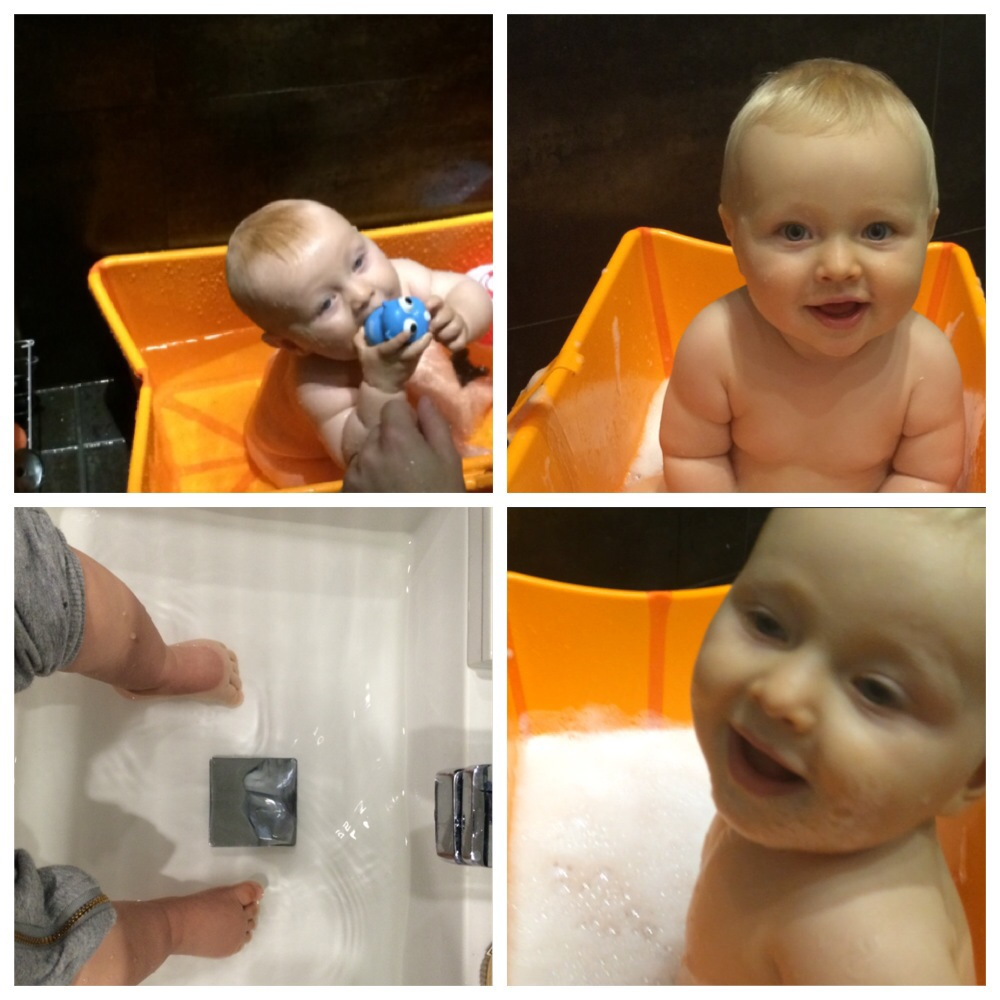 Stokke badbalja. Bubbelbad och fotbad.