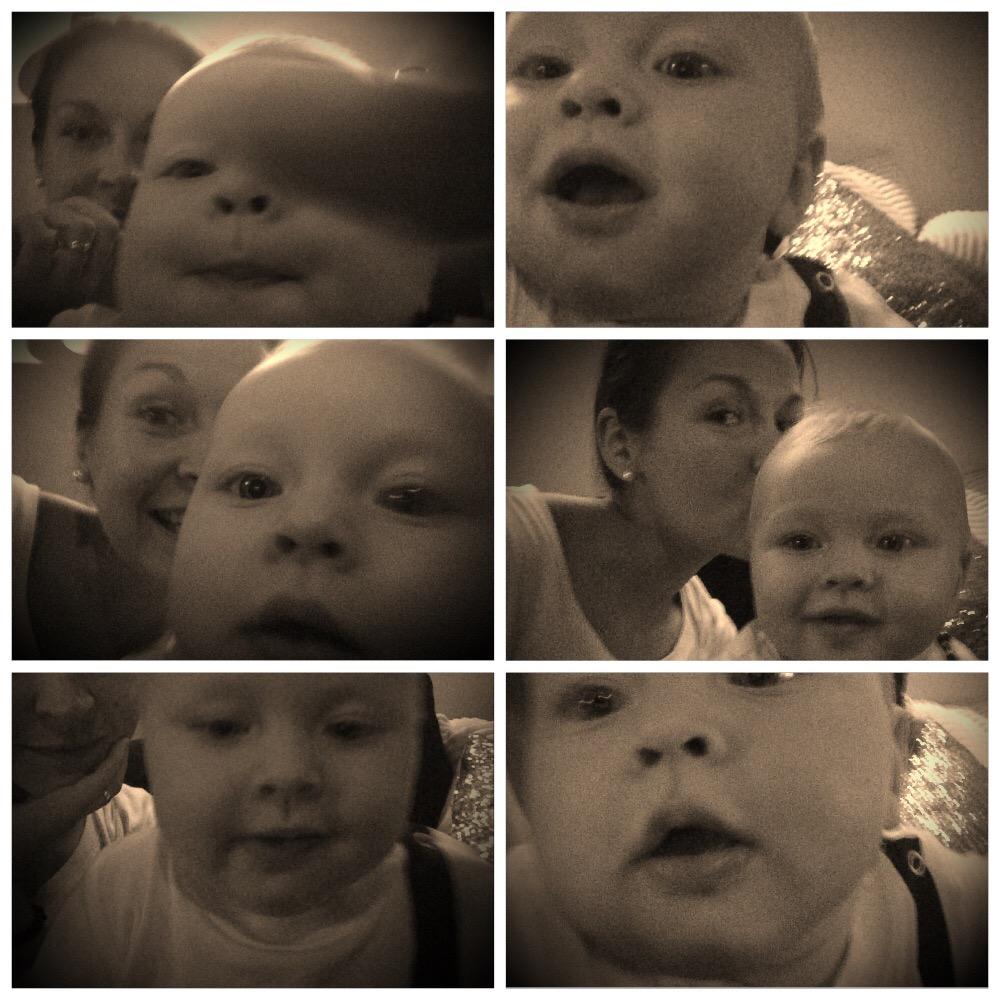 Selfie mamma barn