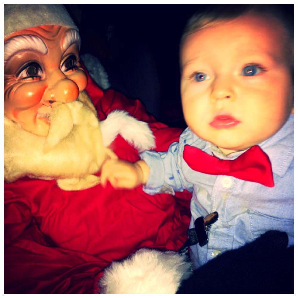 Jultomten och jag.