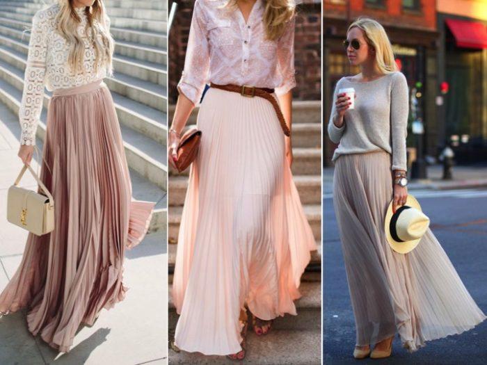 lång plisserad kjol