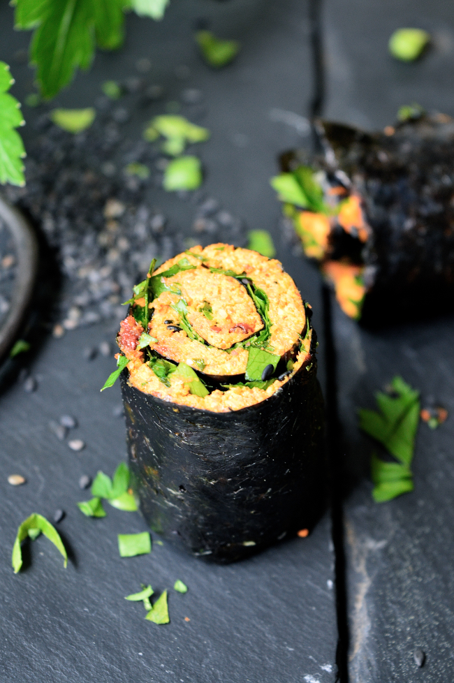Rawfood vegetarisk sushi