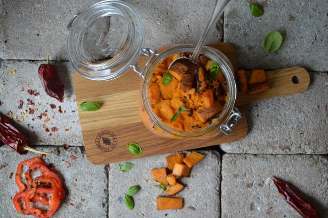 Sötpotatismos med chili