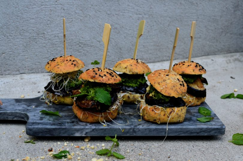 Glutenfria vegetariska burgare