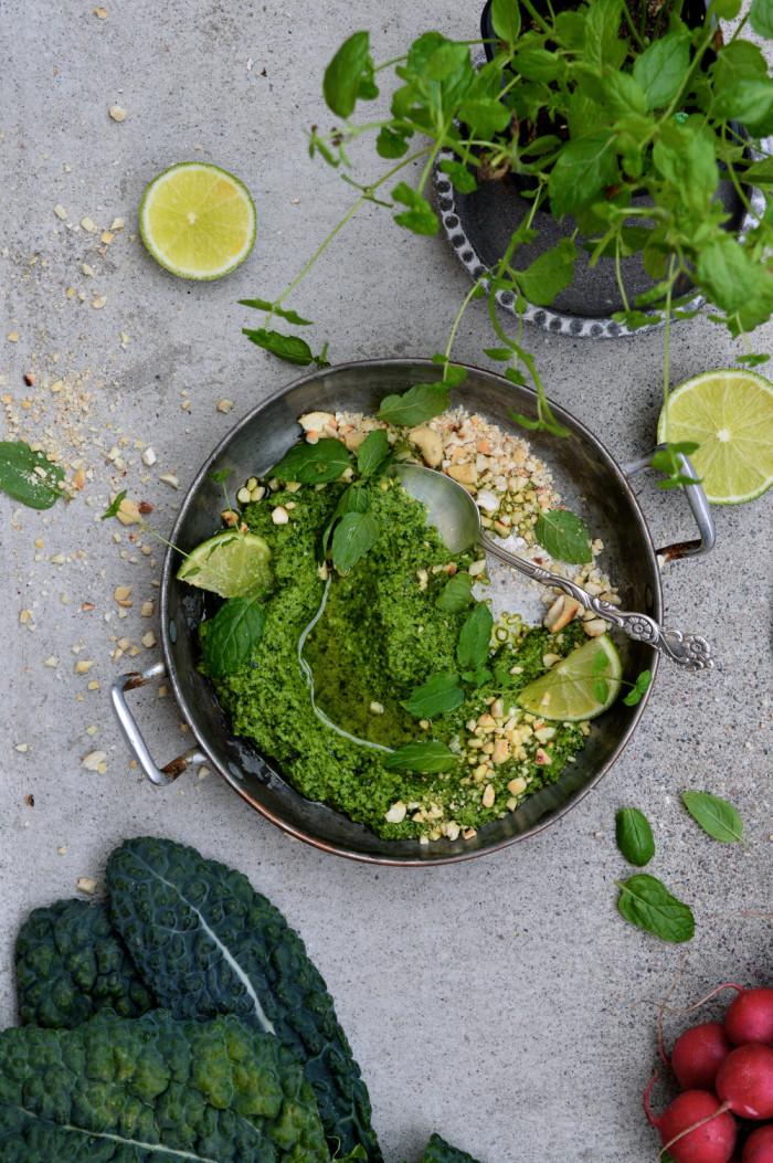 Pesto med svartkål