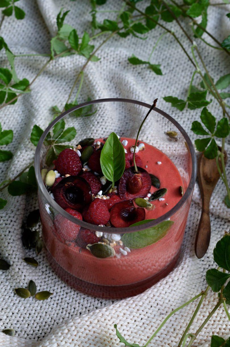 Supermat smoothie hallon nektarin
