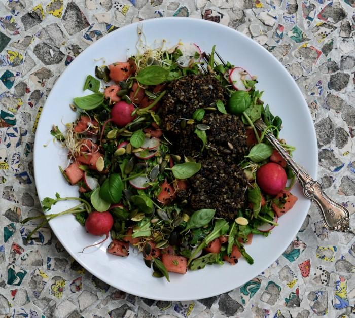 Veganska aubergine och fröbiffar