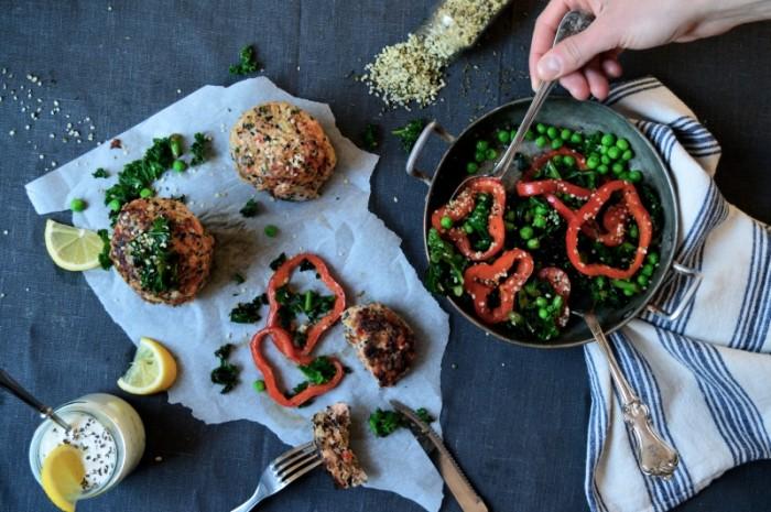 Laxbiffar med paprika