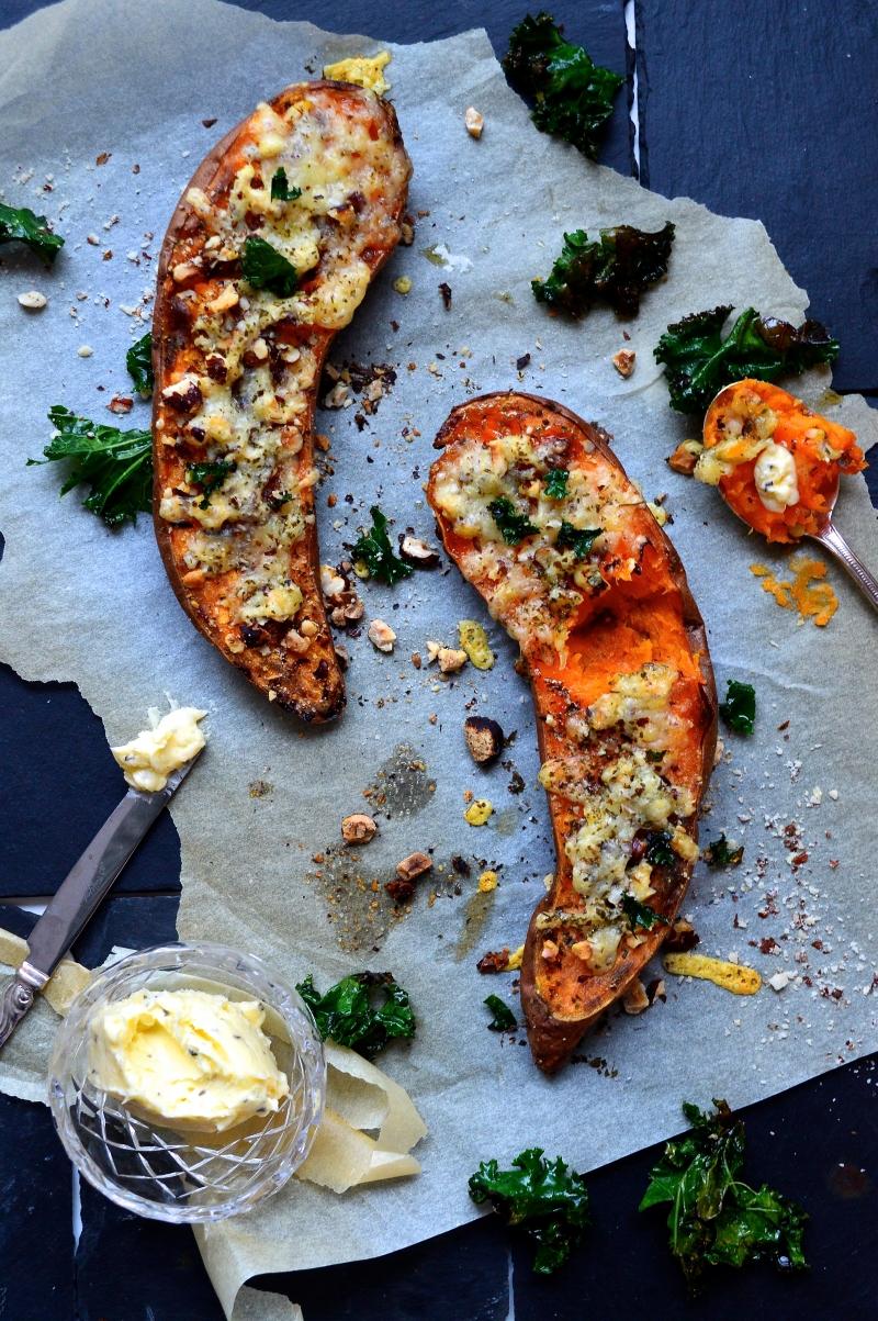 bakad sötpotatis recept