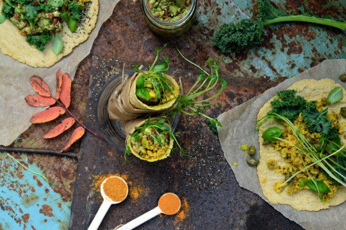 Burritos med curry