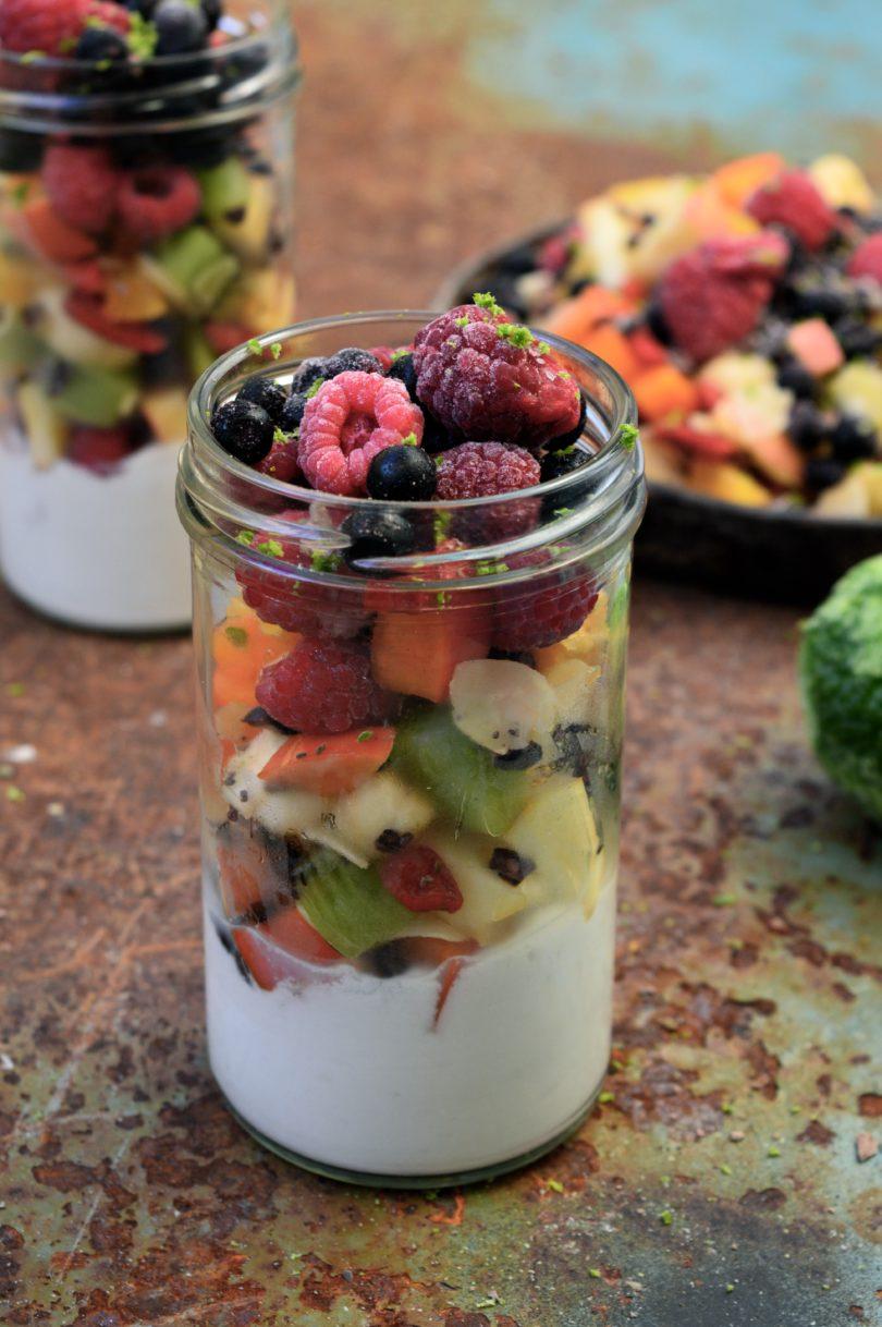 fruktsallad med kokosmjölk