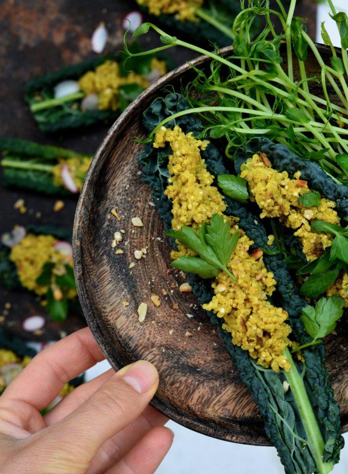 Quinoa och svartkål