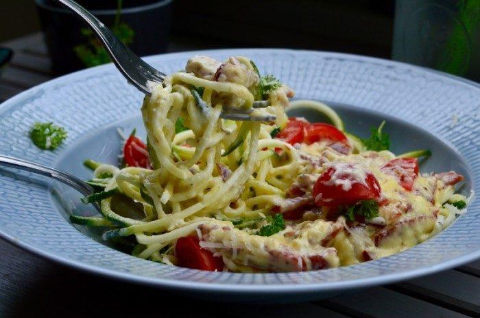 Carbonara med zucchini