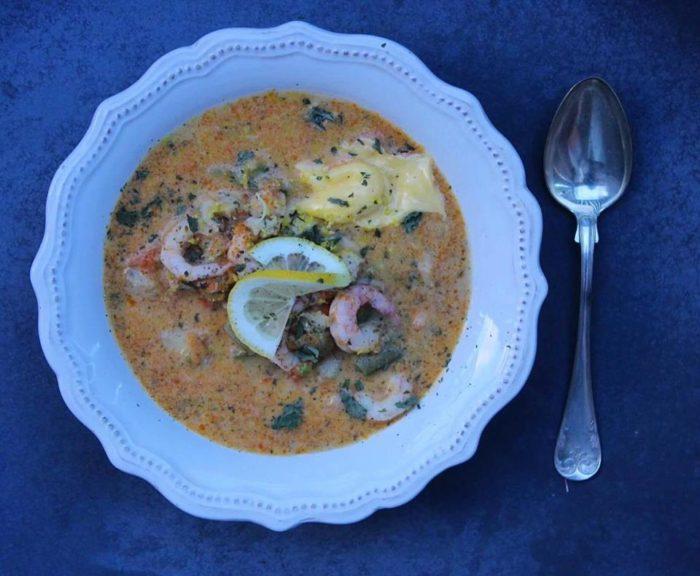 skaldjur soppa