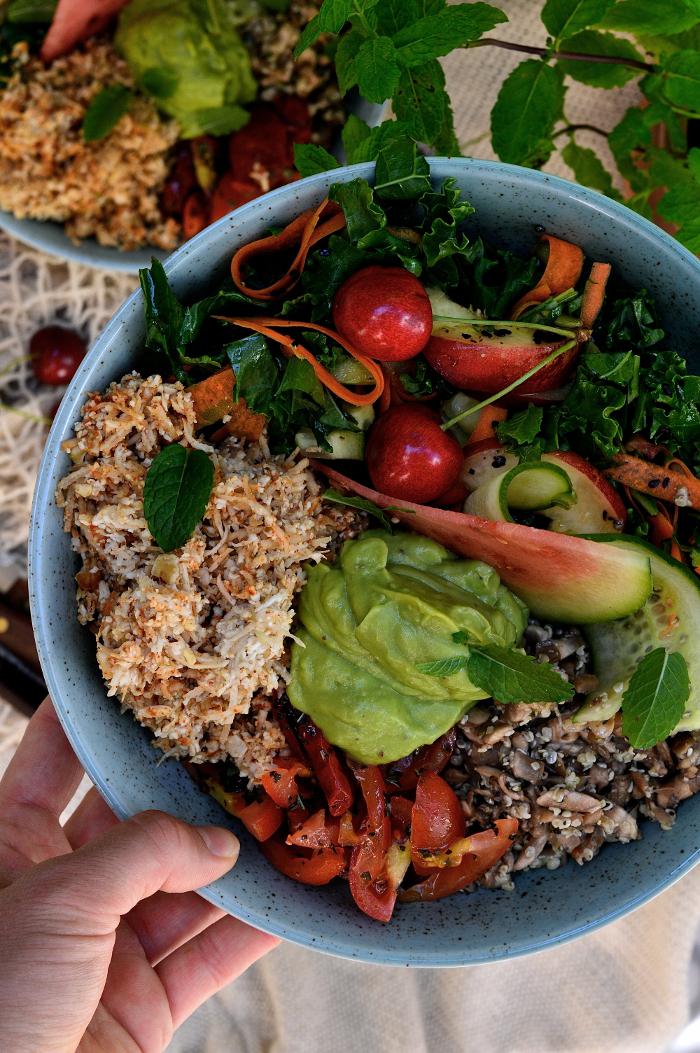raw vegan tacobowl