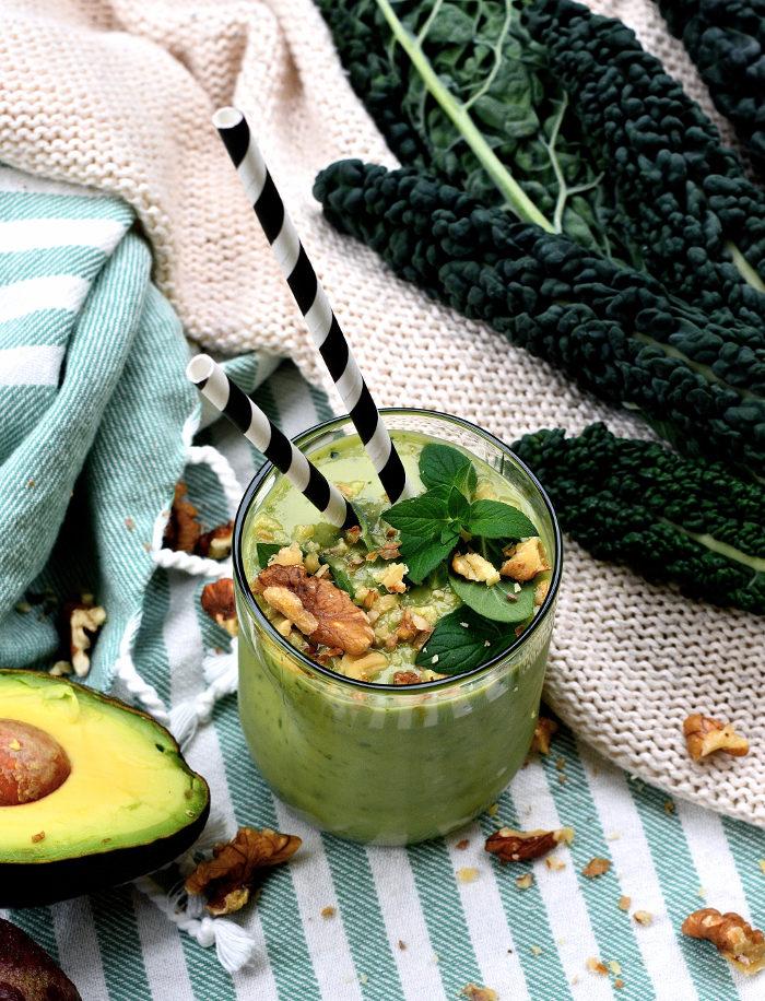 Smoothie Med Svartkål och avokado