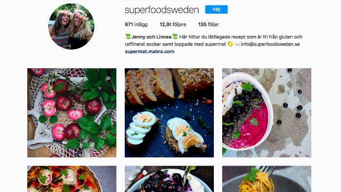 Superfoodsweden instagram blogg