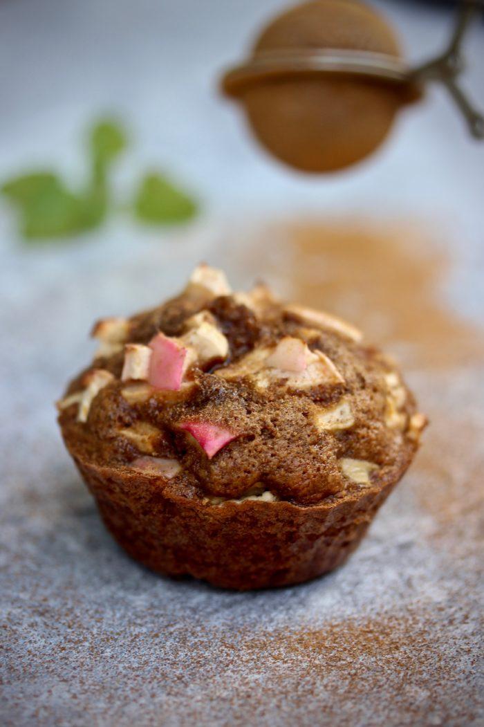 glutenfria äppelmuffins med kanel recept